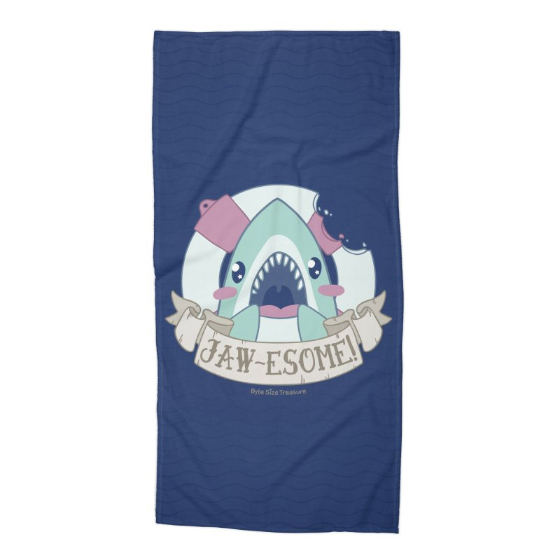 Jawesome! (Great White Shark) Accessories Beach Towel by Byte Size Treasure's Shop