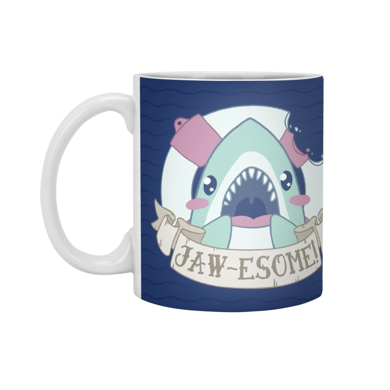 Jawesome! (Great White Shark) Accessories Mug by Byte Size Treasure's Shop