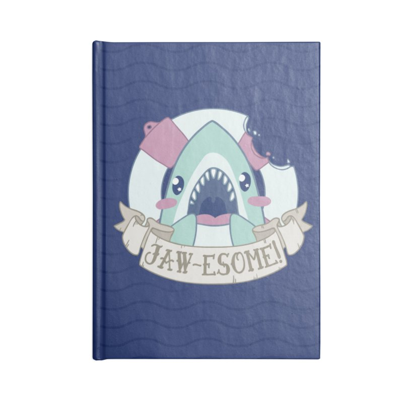 Jawesome! (Great White Shark) Accessories Blank Journal Notebook by Byte Size Treasure's Shop