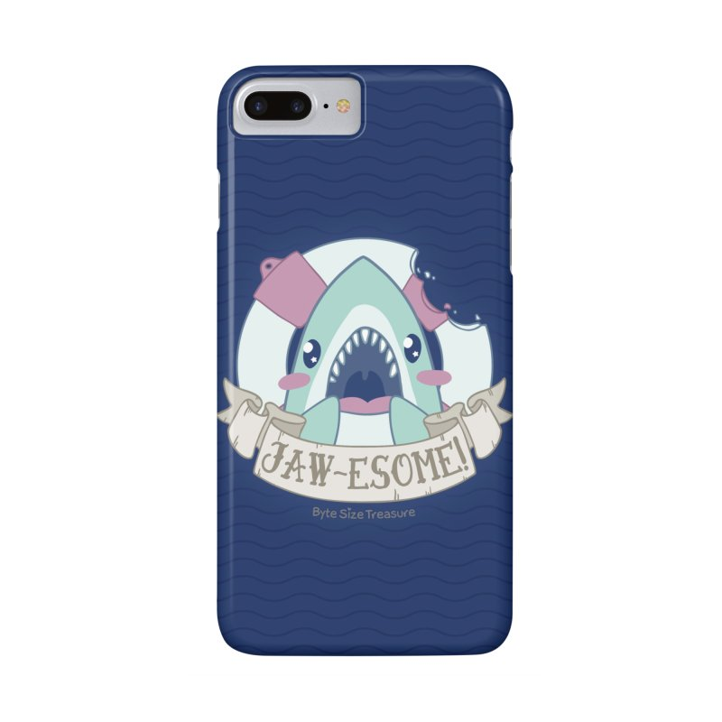 Jawesome! (Great White Shark) in iPhone 7 Plus Phone Case Slim by Byte Size Treasure's Shop