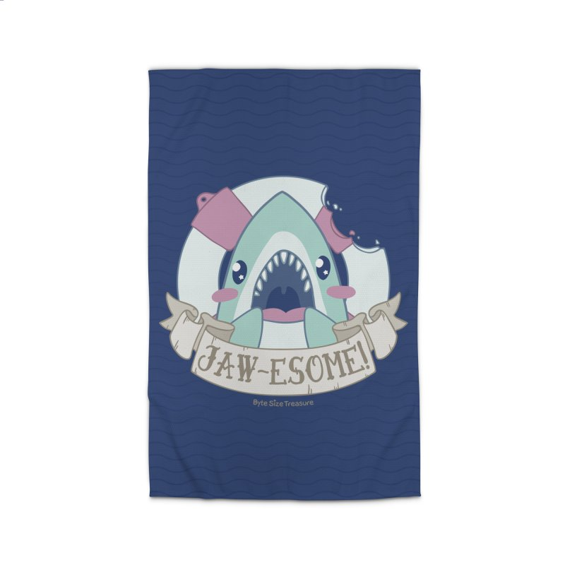 Jawesome! (Great White Shark) Home Rug by Byte Size Treasure's Shop