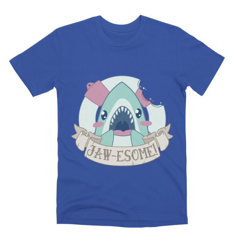 Jawesome! (Great White Shark) Men's Premium T-Shirt by Byte Size Treasure's Shop