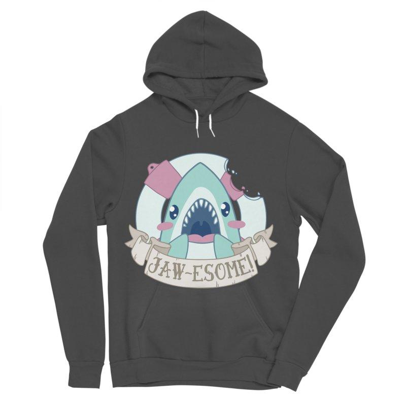 Jawesome! (Great White Shark) Men's Sponge Fleece Pullover Hoody by Byte Size Treasure's Shop