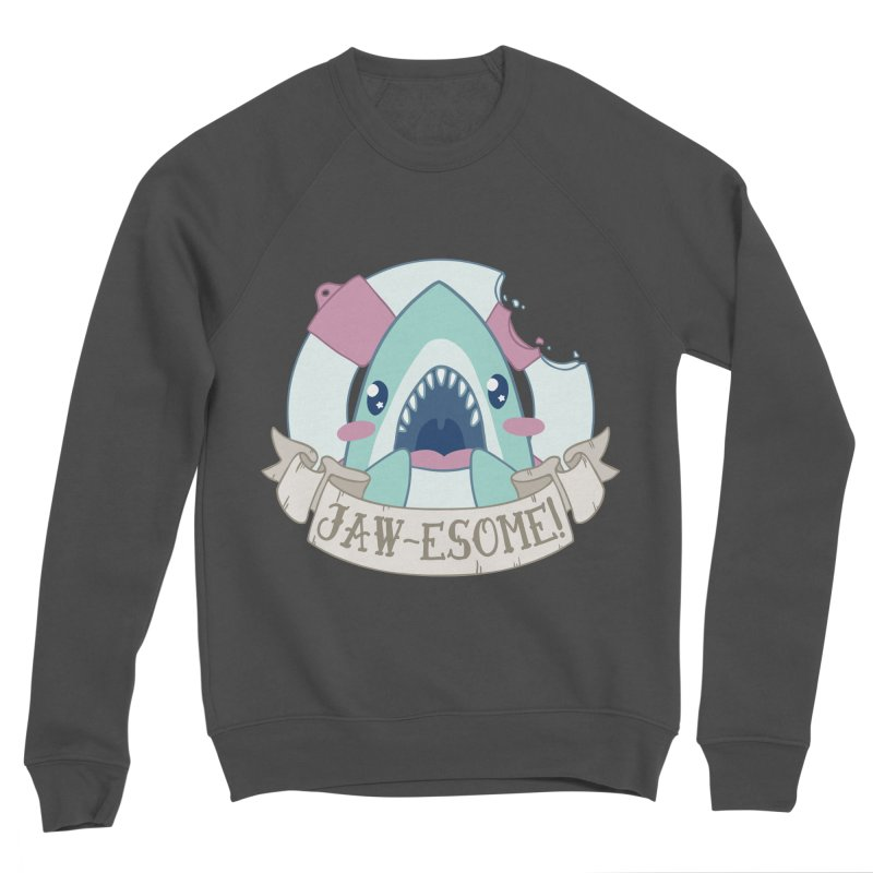 Jawesome! (Great White Shark) Women's Sponge Fleece Sweatshirt by Byte Size Treasure's Shop