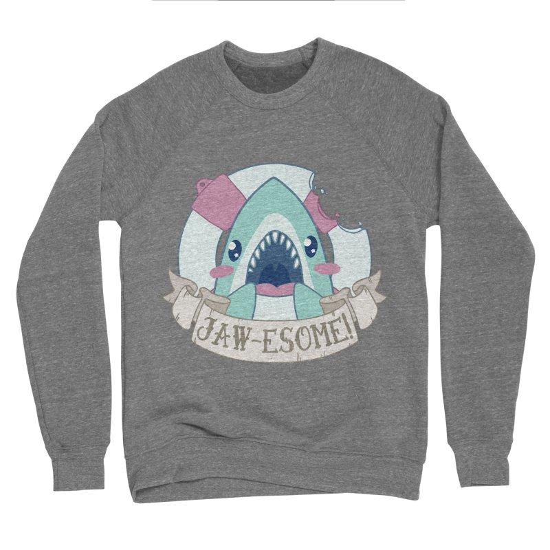Jawesome! (Great White Shark) Men's Sponge Fleece Sweatshirt by Byte Size Treasure's Shop