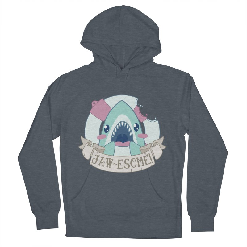 Jawesome! (Great White Shark) Women's French Terry Pullover Hoody by Byte Size Treasure's Shop