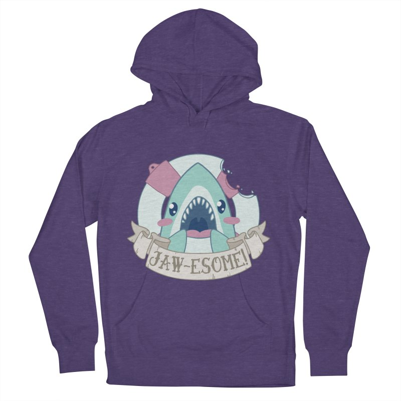 Jawesome! (Great White Shark) Men's French Terry Pullover Hoody by Byte Size Treasure's Shop