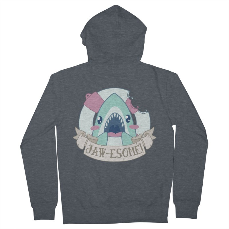 Jawesome! (Great White Shark) Women's French Terry Zip-Up Hoody by Byte Size Treasure's Shop