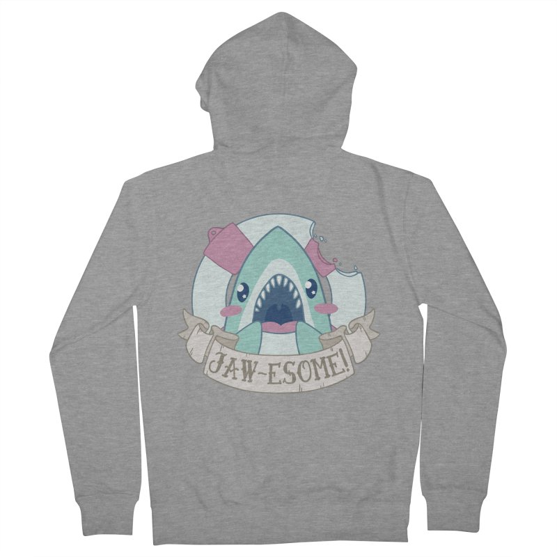 Jawesome! (Great White Shark) Men's French Terry Zip-Up Hoody by Byte Size Treasure's Shop