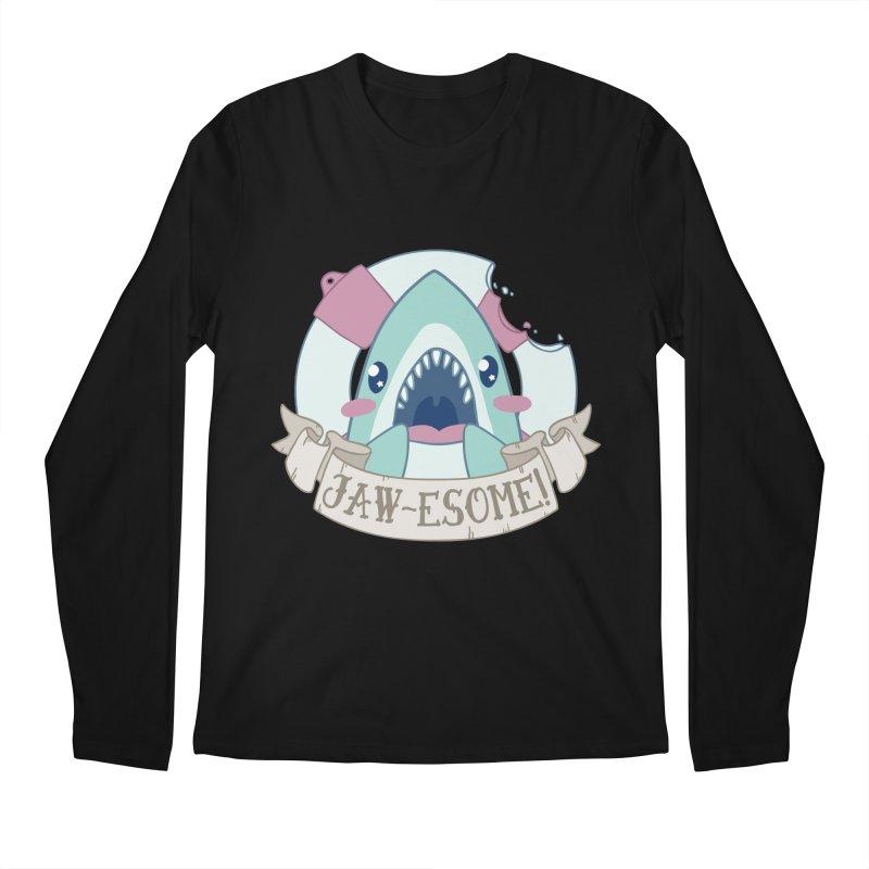 Jawesome! (Great White Shark) Men's Regular Longsleeve T-Shirt by Byte Size Treasure's Shop