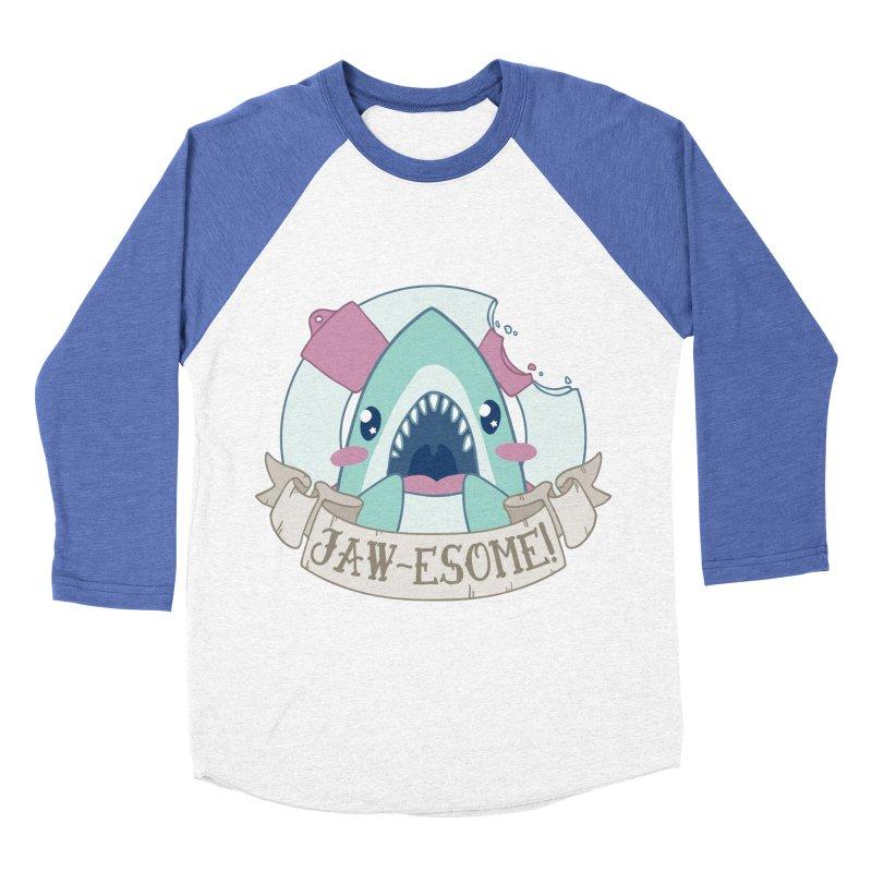 Jawesome! (Great White Shark) Women's Baseball Triblend Longsleeve T-Shirt by Byte Size Treasure's Shop