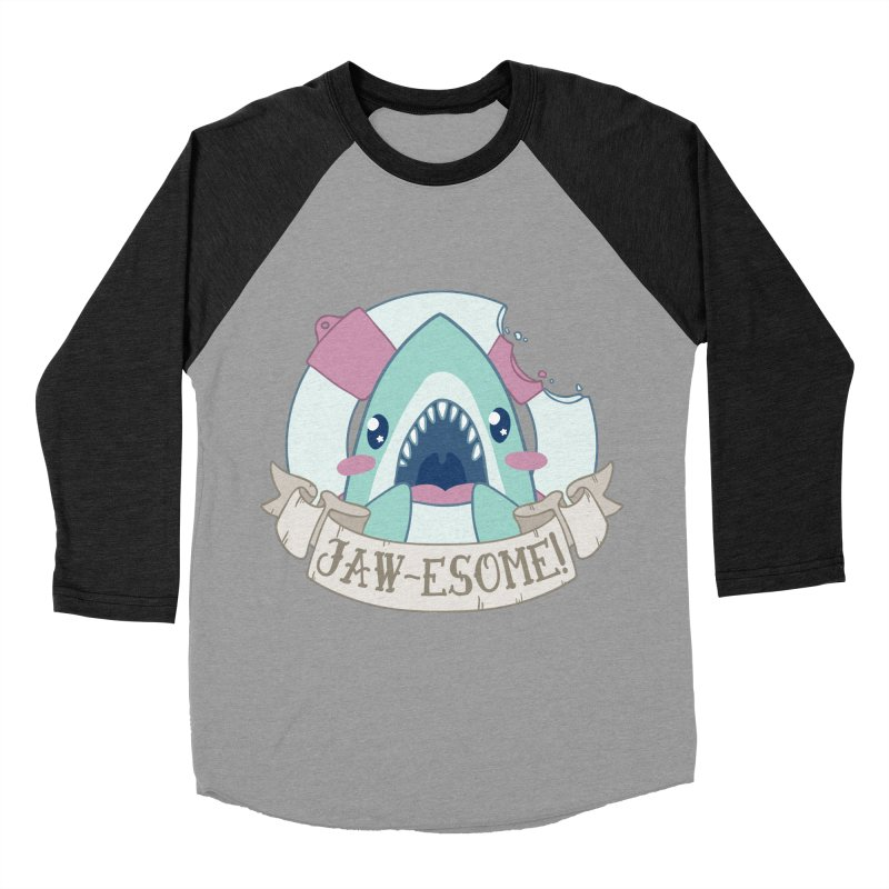 Jawesome! (Great White Shark) Women's Baseball Triblend Longsleeve T-Shirt by Byte Size Treasure's Shop