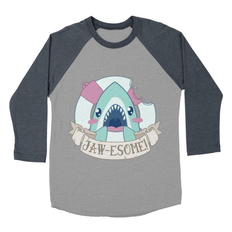 Jawesome! (Great White Shark) Men's Baseball Triblend Longsleeve T-Shirt by Byte Size Treasure's Shop