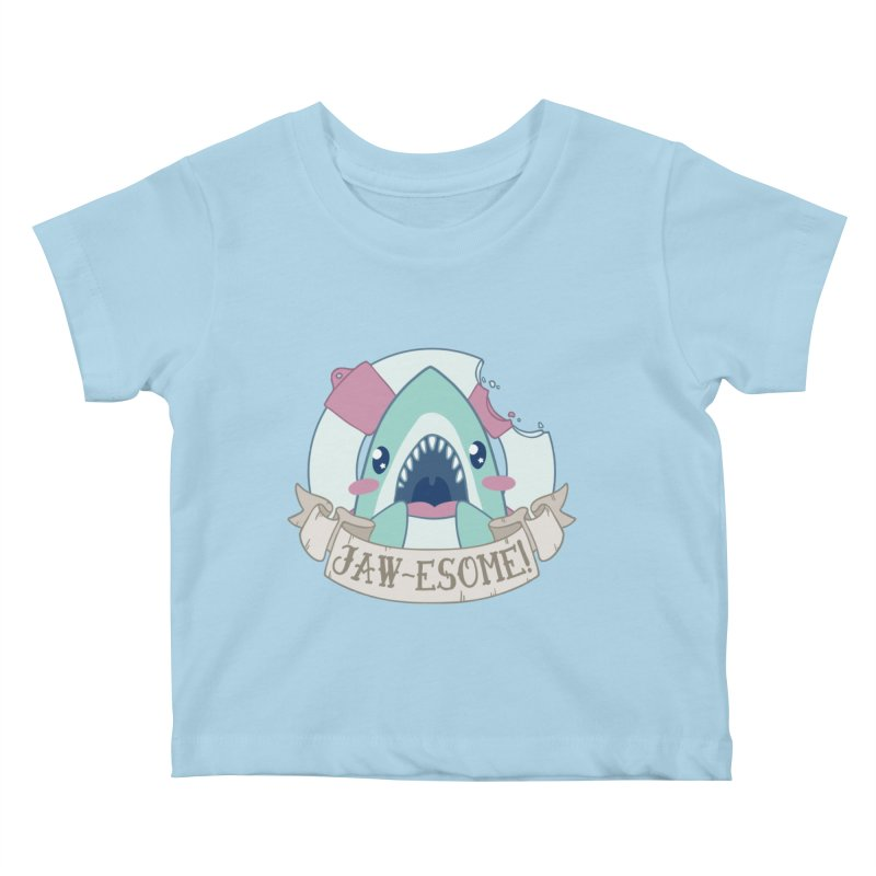 Jawesome! (Great White Shark) Kids Baby T-Shirt by Byte Size Treasure's Shop