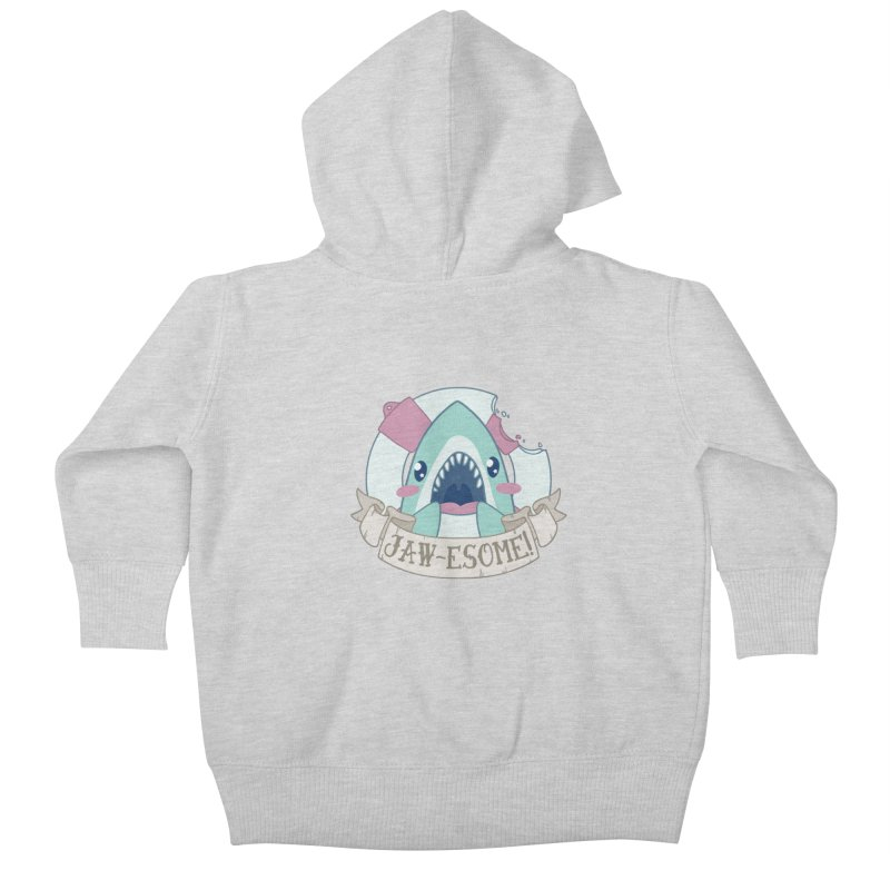 Jawesome! (Great White Shark) Kids Baby Zip-Up Hoody by Byte Size Treasure's Shop