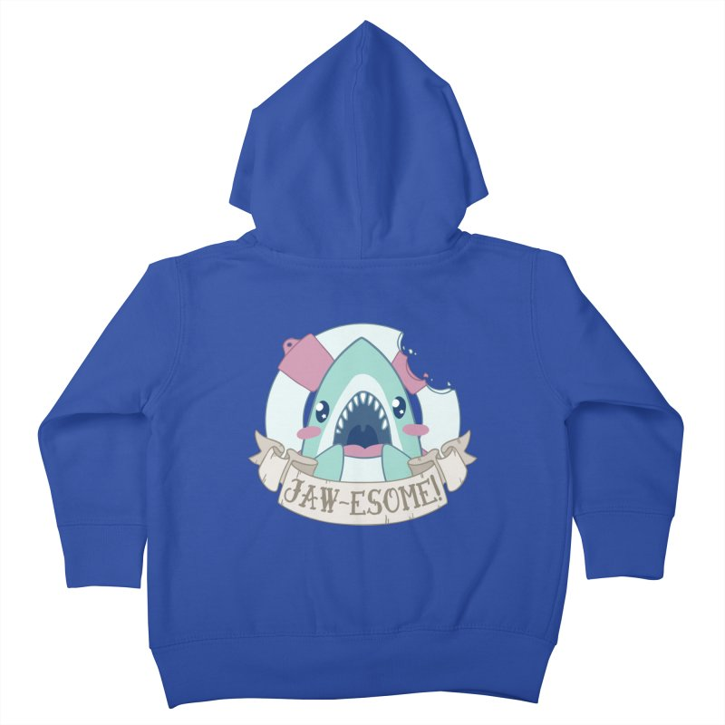Jawesome! (Great White Shark) Kids Toddler Zip-Up Hoody by Byte Size Treasure's Shop