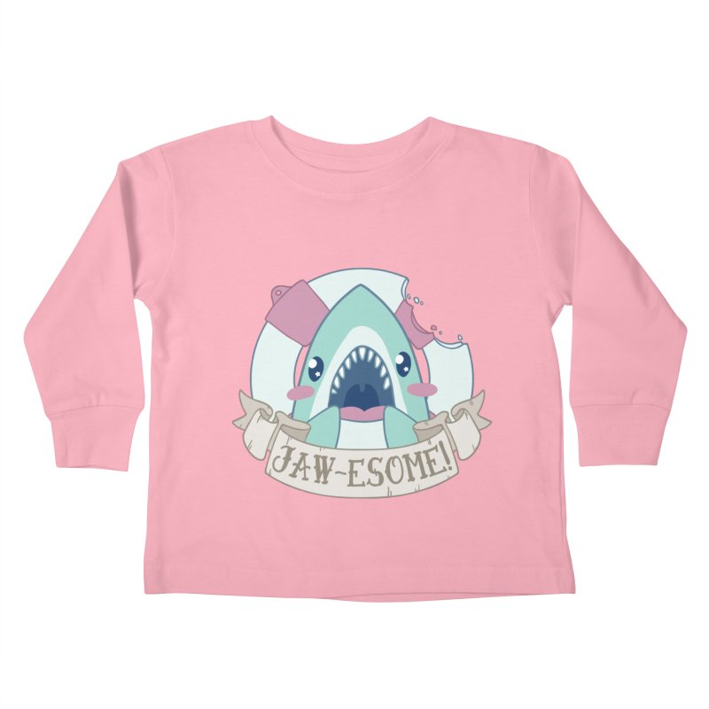 Jawesome! (Great White Shark) Kids Toddler Longsleeve T-Shirt by Byte Size Treasure's Shop