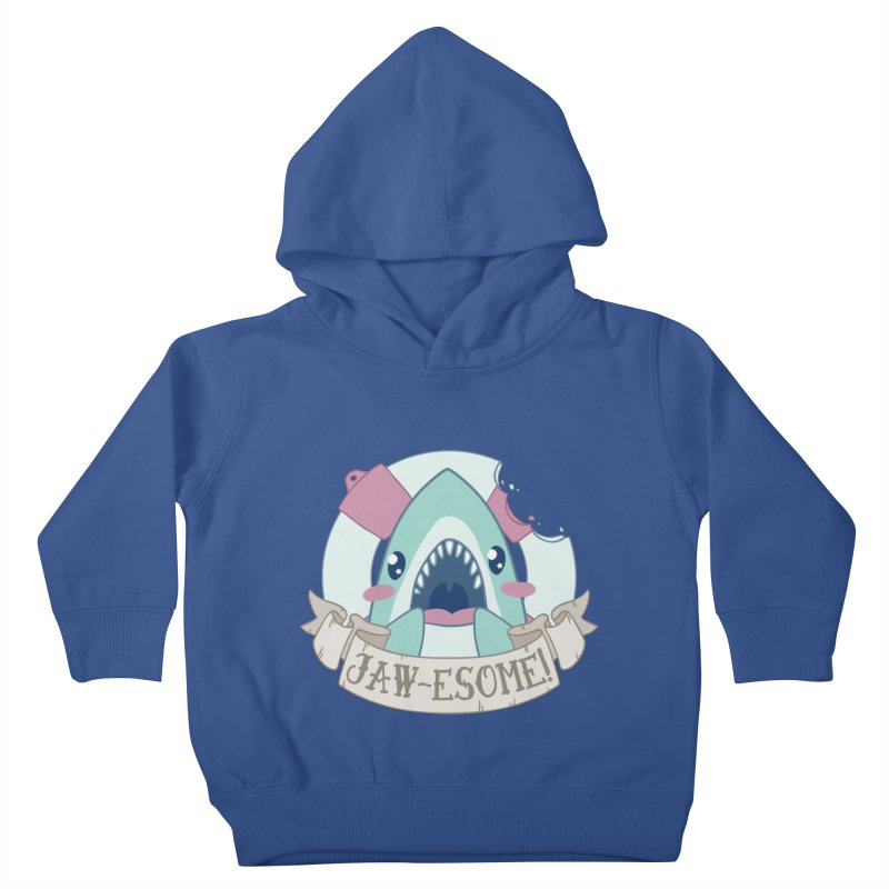 Jawesome! (Great White Shark) Kids Toddler Pullover Hoody by Byte Size Treasure's Shop