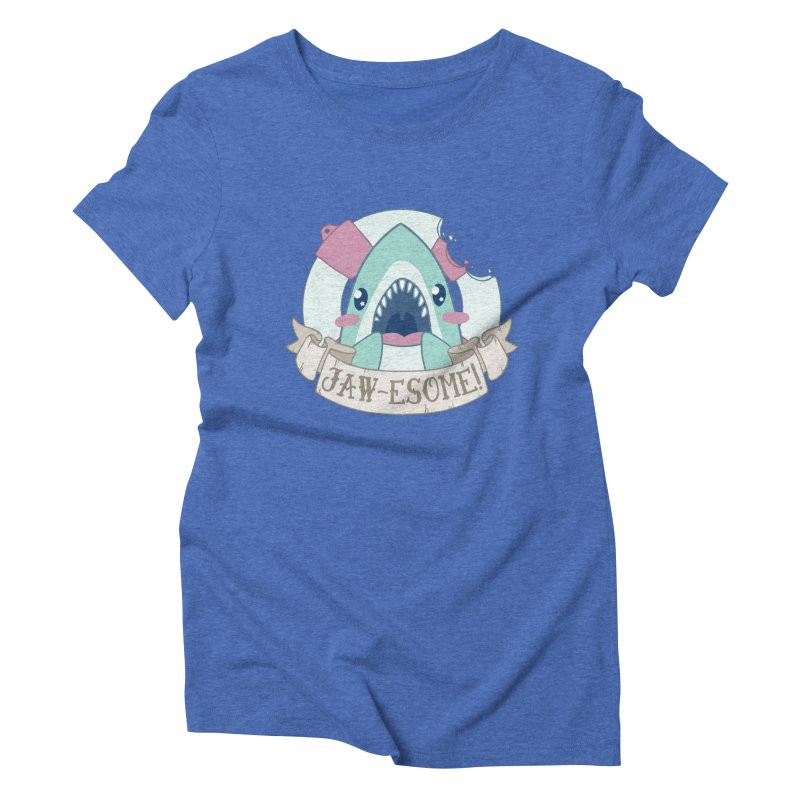 Jawesome! (Great White Shark) Women's Triblend T-Shirt by Byte Size Treasure's Shop