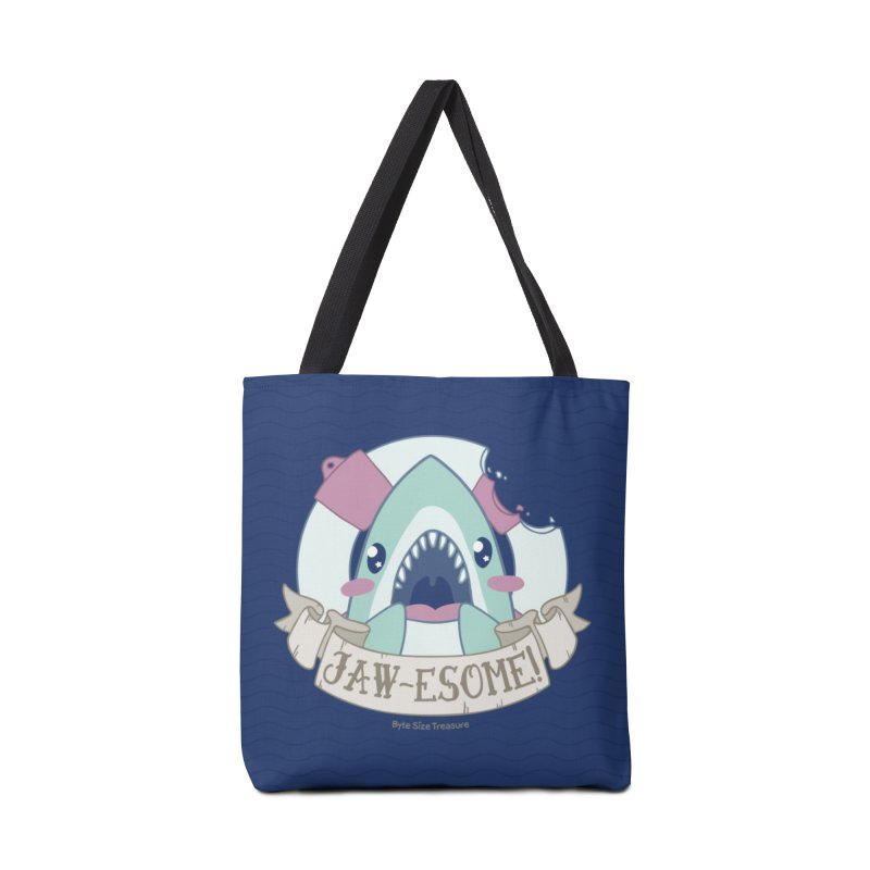 Jawesome! (Great White Shark) Accessories Bag by Byte Size Treasure's Shop