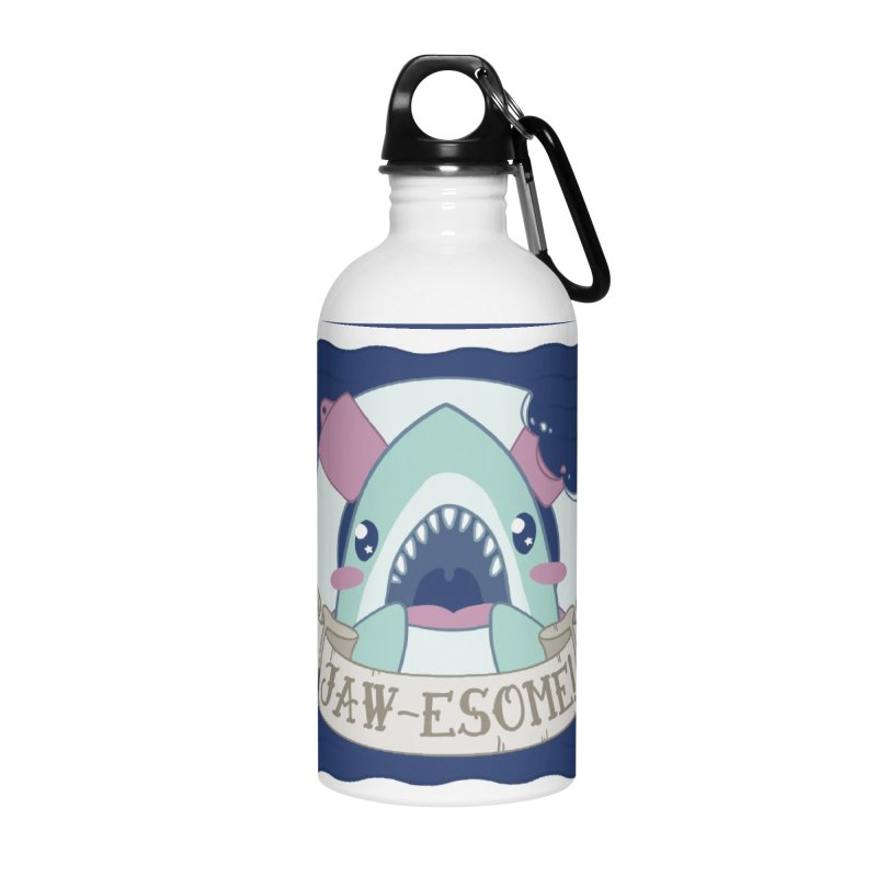Jawesome! (Great White Shark) Accessories Water Bottle by Byte Size Treasure's Shop