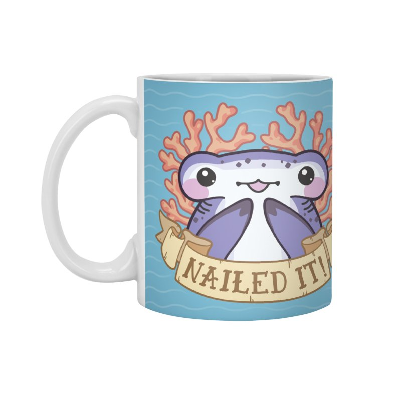 Nailed It! (Hammerhead Shark) Accessories Mug by Byte Size Treasure's Shop