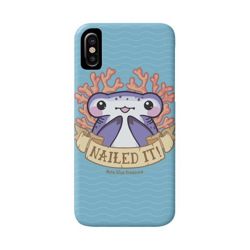 Nailed It! (Hammerhead Shark) Accessories Phone Case by Byte Size Treasure's Shop