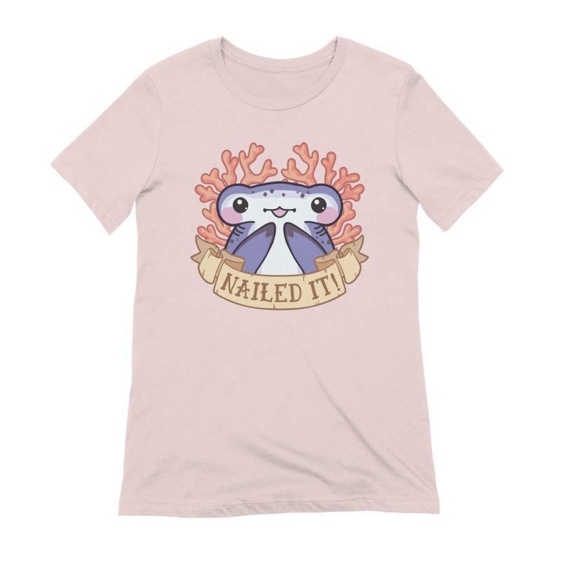 Nailed It! (Hammerhead Shark) Women's Extra Soft T-Shirt by Byte Size Treasure's Shop