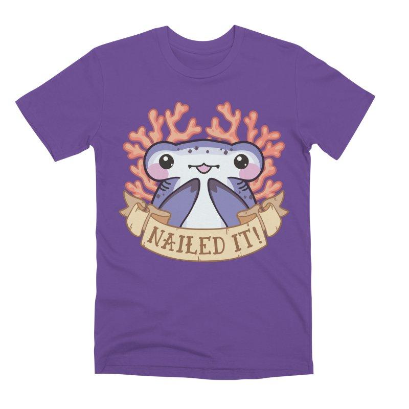 Nailed It! (Hammerhead Shark) Men's Premium T-Shirt by Byte Size Treasure's Shop