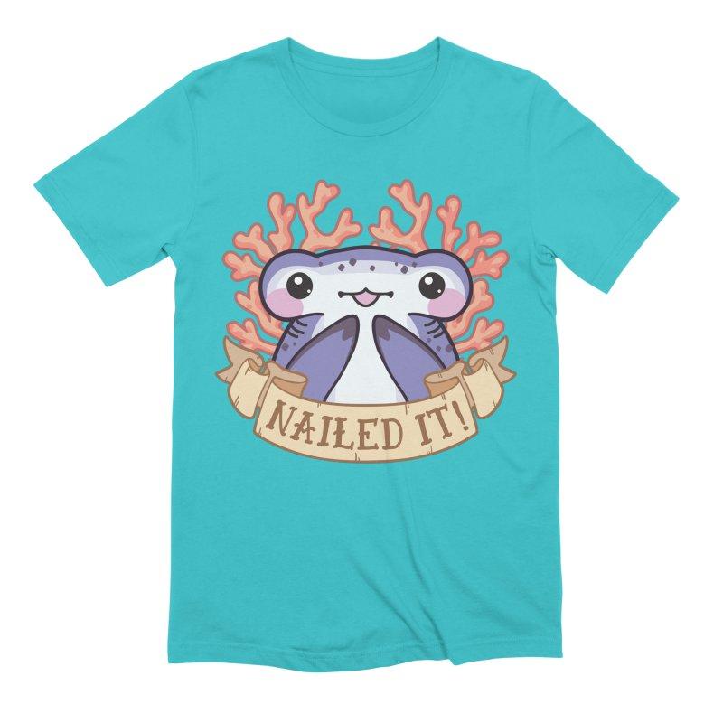 Nailed It! (Hammerhead Shark) Men's Extra Soft T-Shirt by Byte Size Treasure's Shop