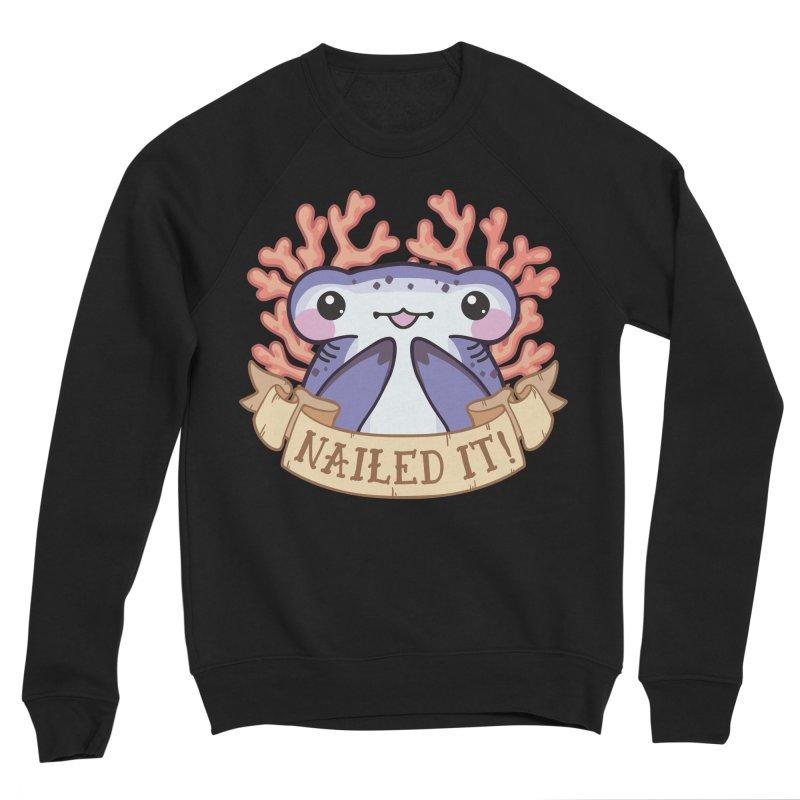 Nailed It! (Hammerhead Shark) Men's Sponge Fleece Sweatshirt by Byte Size Treasure's Shop