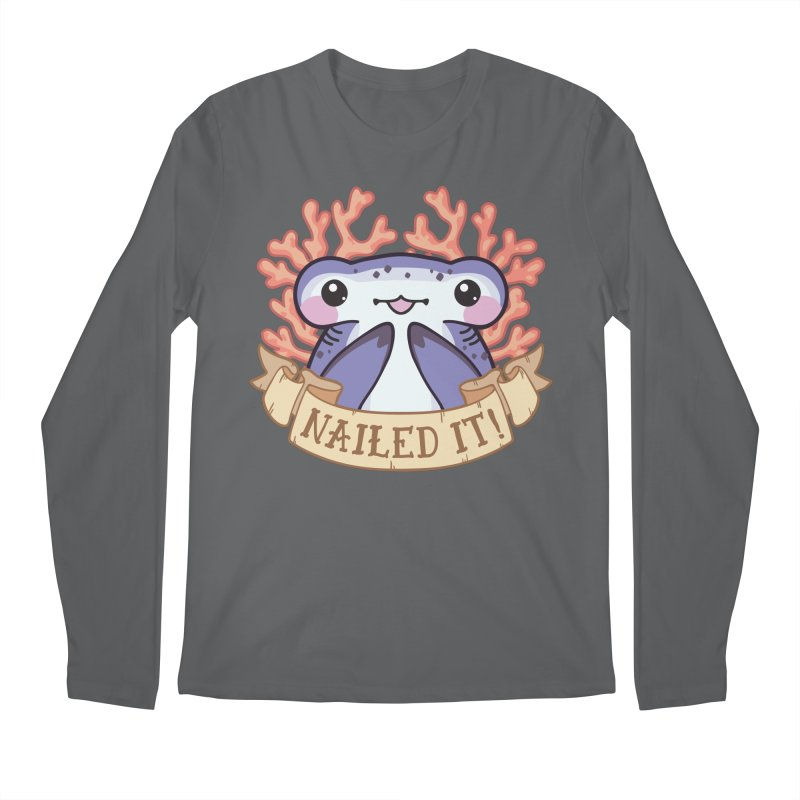 Nailed It! (Hammerhead Shark) Men's Longsleeve T-Shirt by Byte Size Treasure's Shop