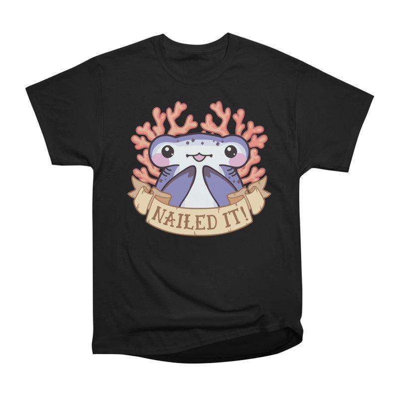 Nailed It! (Hammerhead Shark) Men's Heavyweight T-Shirt by Byte Size Treasure's Shop