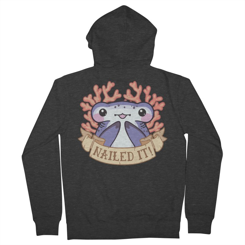 Nailed It! (Hammerhead Shark) Women's French Terry Zip-Up Hoody by Byte Size Treasure's Shop