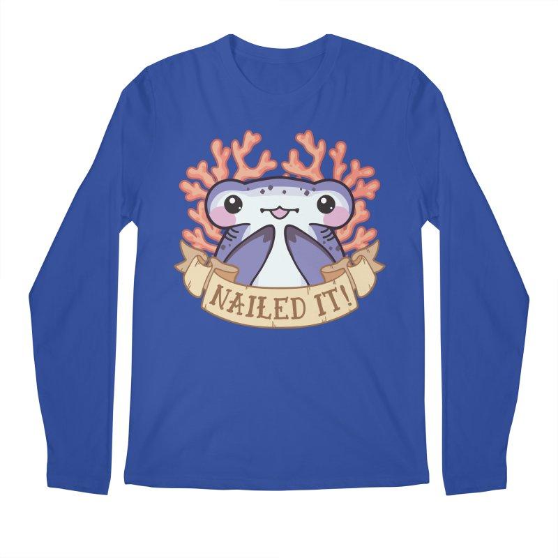 Nailed It! (Hammerhead Shark) Men's Regular Longsleeve T-Shirt by Byte Size Treasure's Shop