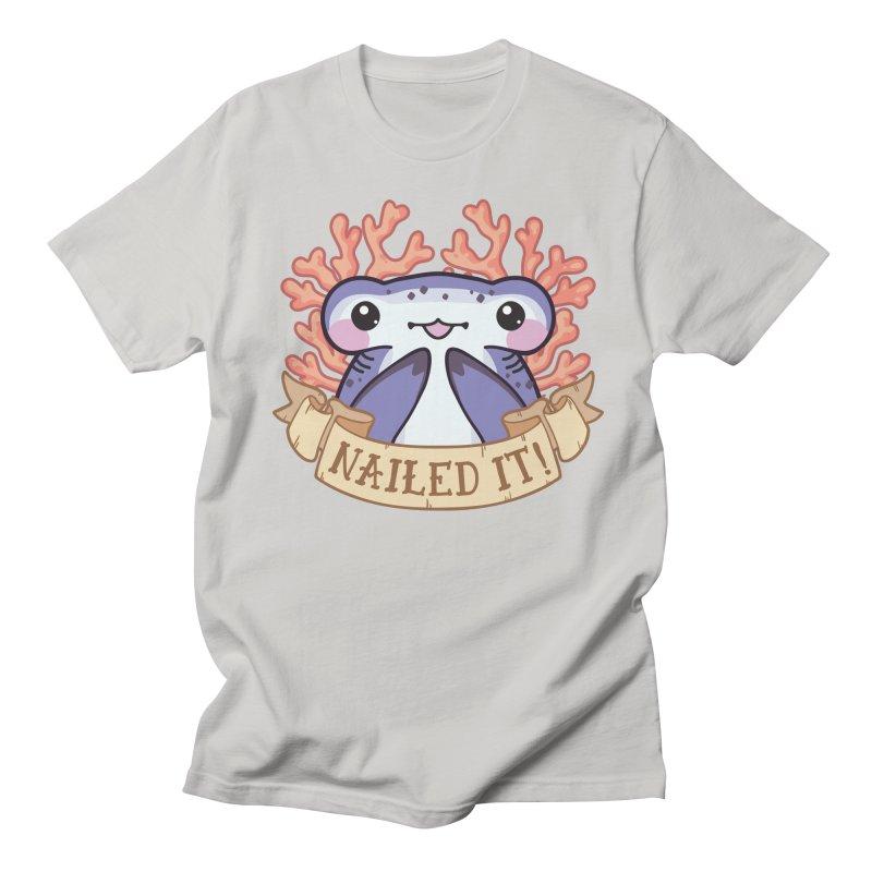 Nailed It! (Hammerhead Shark) Men's Regular T-Shirt by Byte Size Treasure's Shop