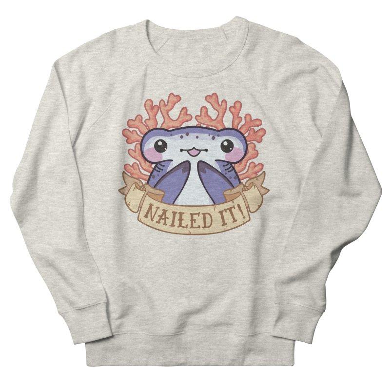 Nailed It! (Hammerhead Shark) Men's French Terry Sweatshirt by Byte Size Treasure's Shop