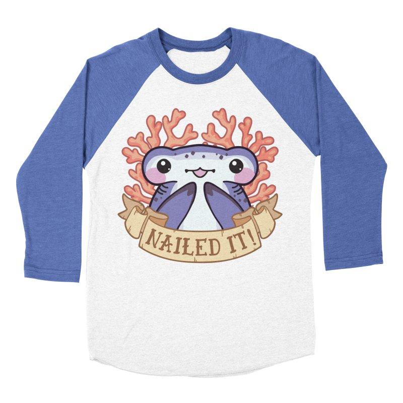 Nailed It! (Hammerhead Shark) Women's Baseball Triblend Longsleeve T-Shirt by Byte Size Treasure's Shop