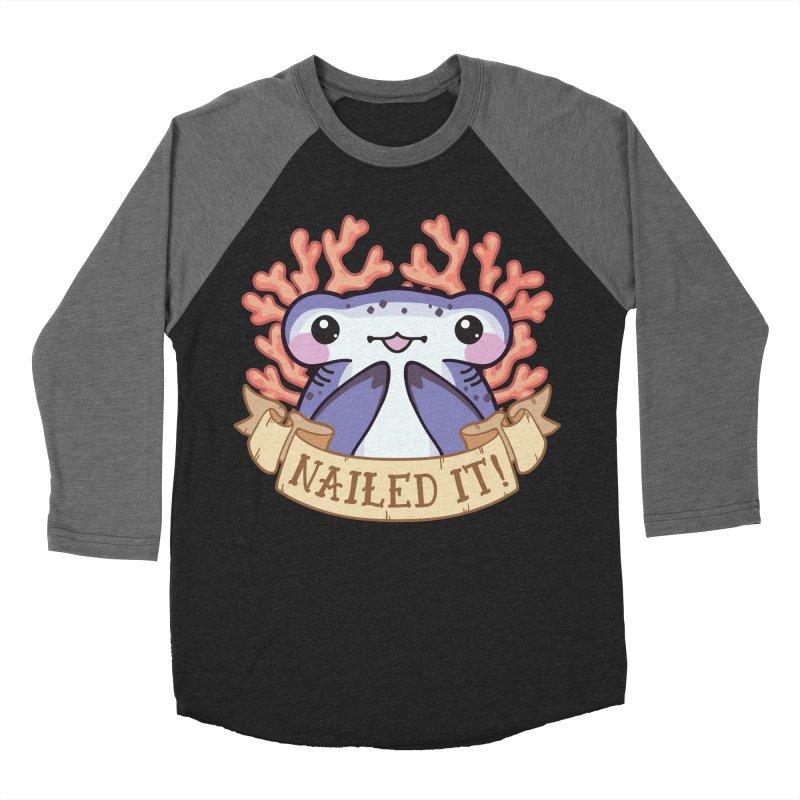 Nailed It! (Hammerhead Shark) Men's Baseball Triblend Longsleeve T-Shirt by Byte Size Treasure's Shop