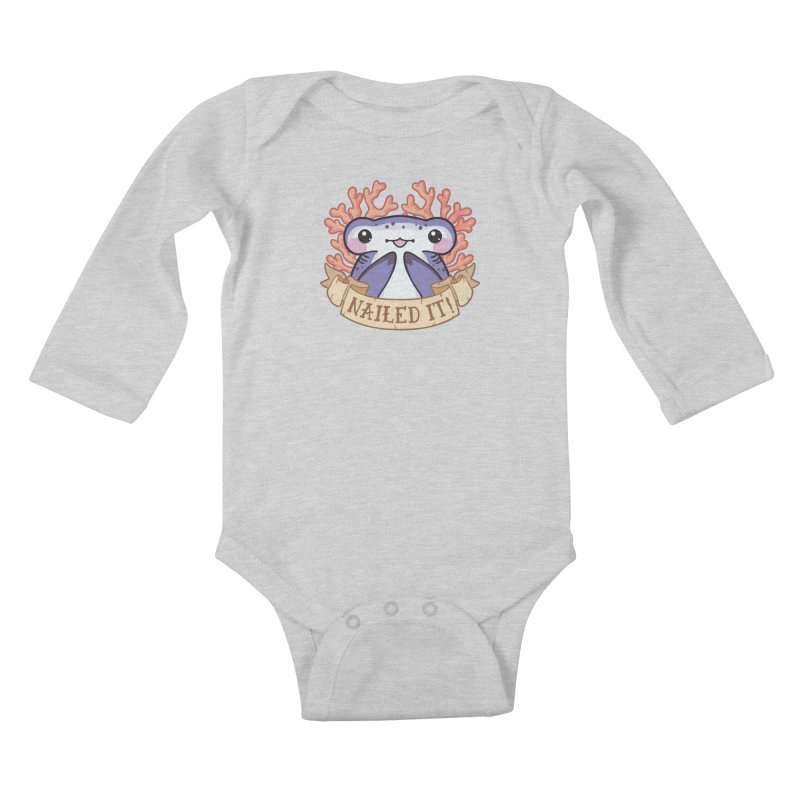 Nailed It! (Hammerhead Shark) Kids Baby Longsleeve Bodysuit by Byte Size Treasure's Shop
