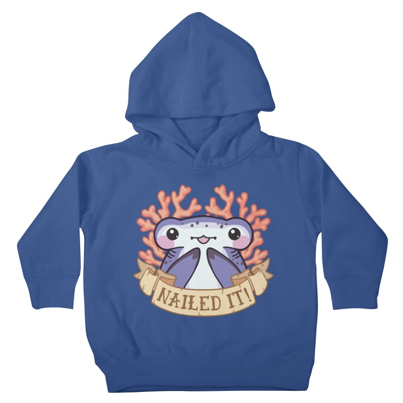 Nailed It! (Hammerhead Shark) Kids Toddler Pullover Hoody by Byte Size Treasure's Shop
