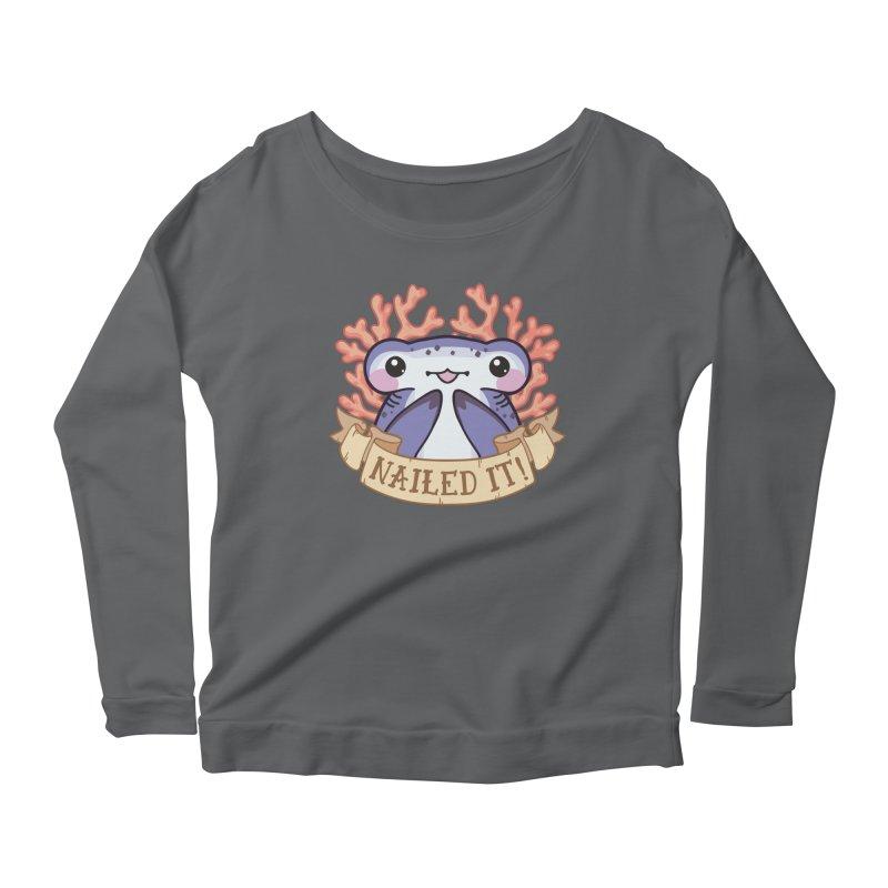 Nailed It! (Hammerhead Shark) Women's Scoop Neck Longsleeve T-Shirt by Byte Size Treasure's Shop