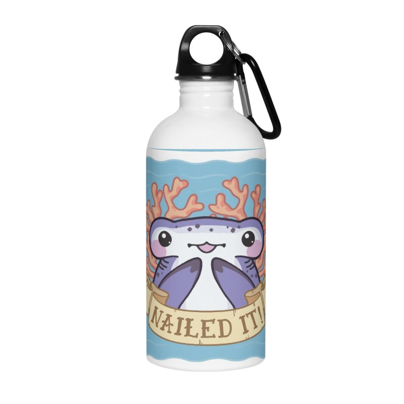 Nailed It! (Hammerhead Shark) Accessories Water Bottle by Byte Size Treasure's Shop