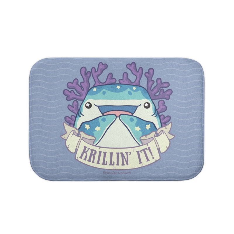Krillin' It! (Whale Shark) Home Bath Mat by Byte Size Treasure's Shop