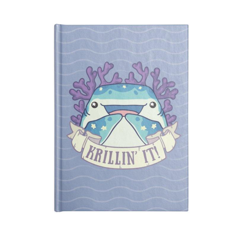 Krillin' It! (Whale Shark) Accessories Blank Journal Notebook by Byte Size Treasure's Shop