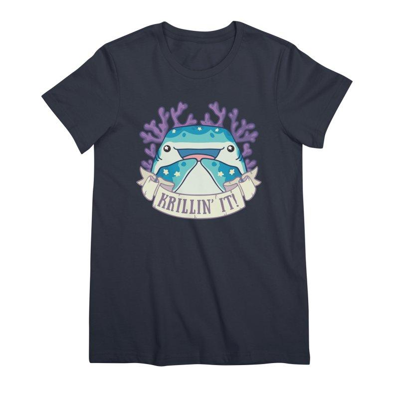 Krillin' It! (Whale Shark) Women's Premium T-Shirt by Byte Size Treasure's Shop