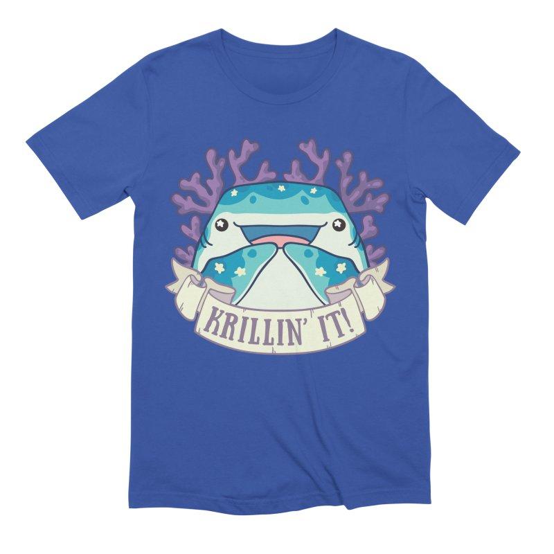 Krillin' It! (Whale Shark) Men's Extra Soft T-Shirt by Byte Size Treasure's Shop