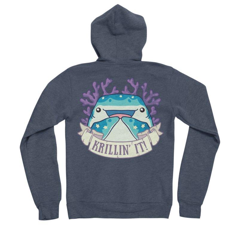 Krillin' It! (Whale Shark) Men's Sponge Fleece Zip-Up Hoody by Byte Size Treasure's Shop