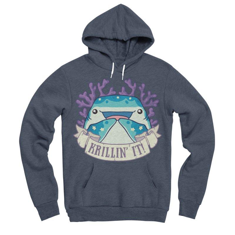 Krillin' It! (Whale Shark) Men's Sponge Fleece Pullover Hoody by Byte Size Treasure's Shop