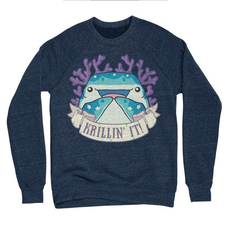 Krillin' It! (Whale Shark) Men's Sponge Fleece Sweatshirt by Byte Size Treasure's Shop